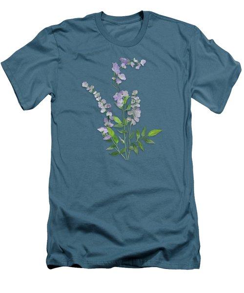 Purple Tiny Flowers Men's T-Shirt (Slim Fit) by Ivana Westin