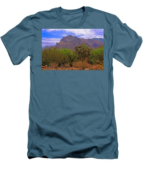 Men's T-Shirt (Athletic Fit) featuring the photograph Pusch Ridge Morning H10 by Mark Myhaver