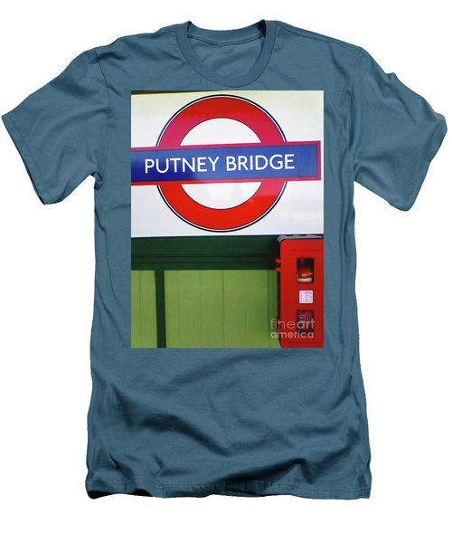 Men's T-Shirt (Athletic Fit) featuring the photograph Putney Bridge by Rebecca Harman