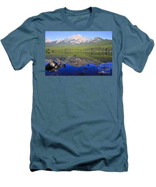 Pyramid Lake Reflection Men's T-Shirt (Athletic Fit)