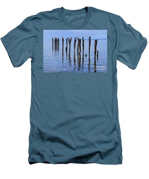 Men's T-Shirt (Athletic Fit) featuring the photograph Quay Rest by Stephen Mitchell