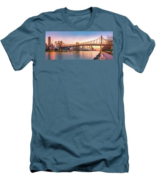 Queensboro Bridge At Sunset Men's T-Shirt (Athletic Fit)