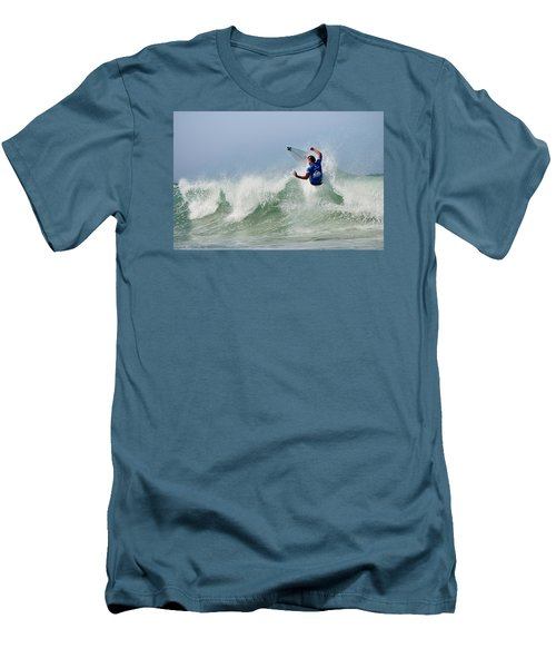 Men's T-Shirt (Slim Fit) featuring the photograph Quiksilver Pro France I by Thierry Bouriat