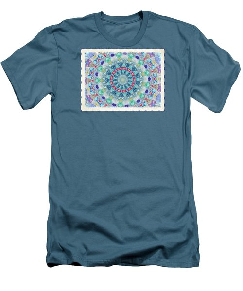 Men's T-Shirt (Slim Fit) featuring the photograph Quilted Color  Wheel by Shirley Moravec