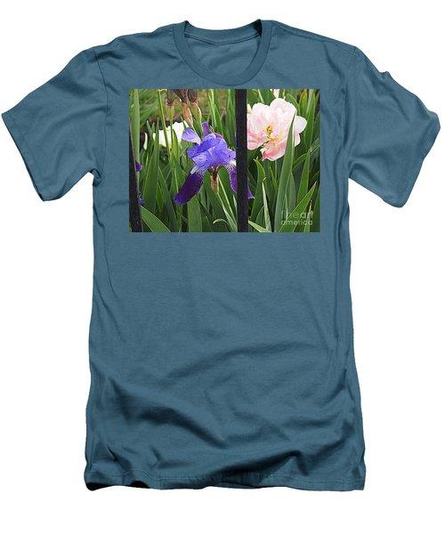 Men's T-Shirt (Slim Fit) featuring the photograph Quite The Pair by Nancy Kane Chapman
