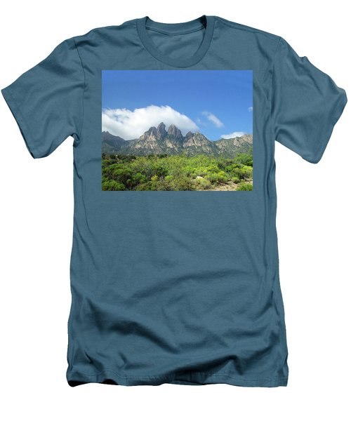 Men's T-Shirt (Slim Fit) featuring the photograph  Organ Mountains Rabbit Ears by Jack Pumphrey