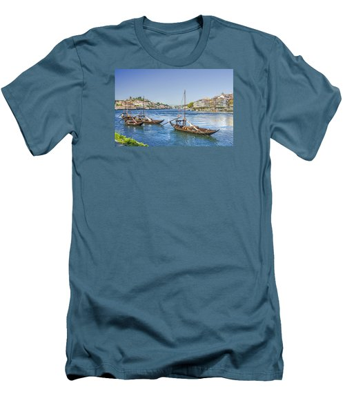 Men's T-Shirt (Slim Fit) featuring the photograph Rabelos On The Douro by Brian Tarr