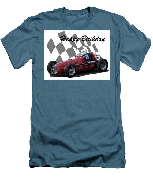 Racing Car Birthday Card 6 Men's T-Shirt (Athletic Fit)