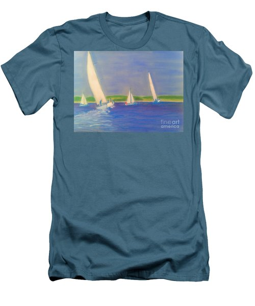 Racing Off Chester Men's T-Shirt (Slim Fit) by Rae  Smith