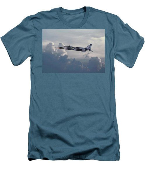 Men's T-Shirt (Slim Fit) featuring the photograph Raf Jaguar Gr1 by Pat Speirs