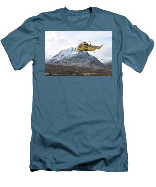 Men's T-Shirt (Slim Fit) featuring the digital art Raf Sea King - Sar by Pat Speirs