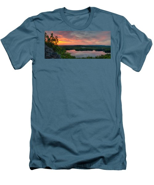 Ragged Mountain Sunrise Men's T-Shirt (Slim Fit) by Craig Szymanski