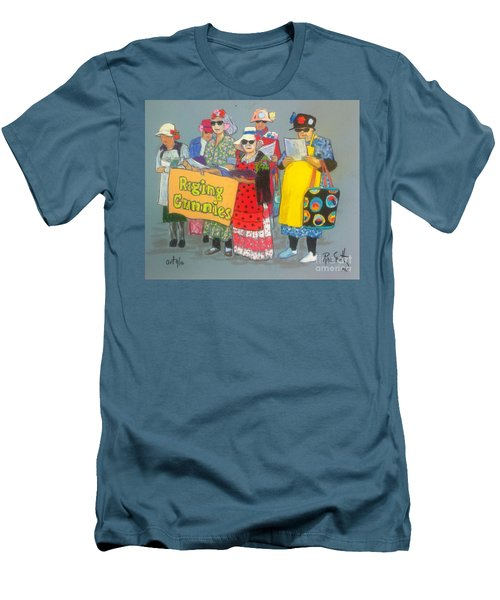 Raging Grannies  Men's T-Shirt (Athletic Fit)