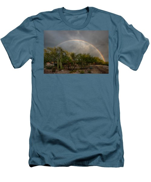 Men's T-Shirt (Slim Fit) featuring the photograph Rain Then Rainbows by Dan McManus