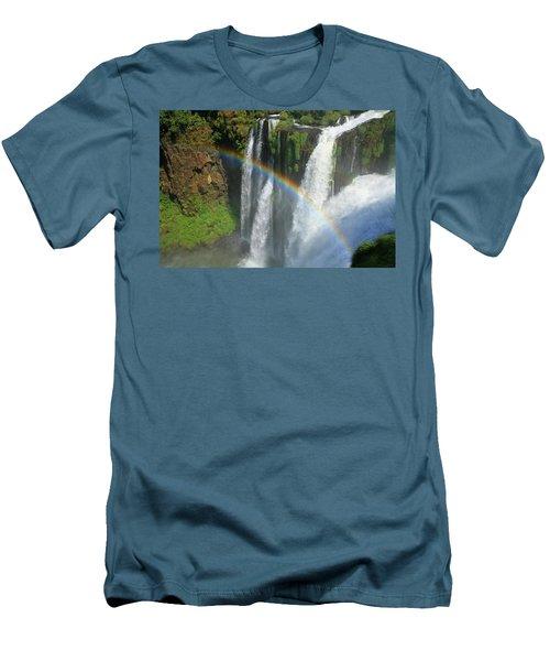 Rainbow At Iguazu Falls Men's T-Shirt (Athletic Fit)