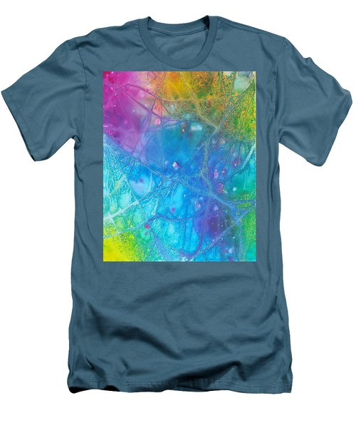 Rainbow Men's T-Shirt (Slim Fit) by Artists With Autism Inc