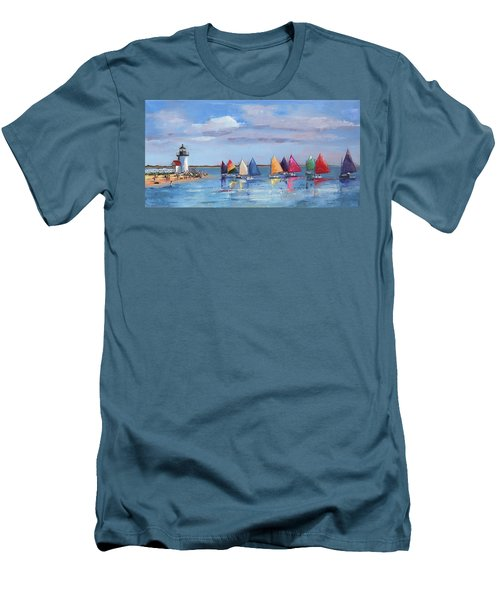 Rainbow Fleet Parade At Brant Point Men's T-Shirt (Athletic Fit)