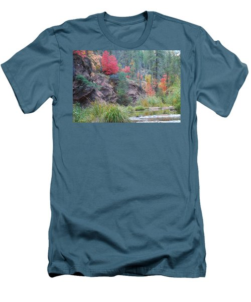 Rainbow Of The Season With River Men's T-Shirt (Athletic Fit)