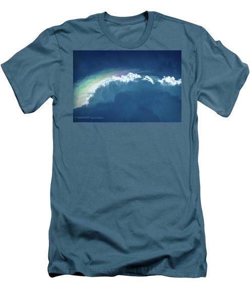 Rainbow Peeking Men's T-Shirt (Slim Fit) by Stefanie Silva