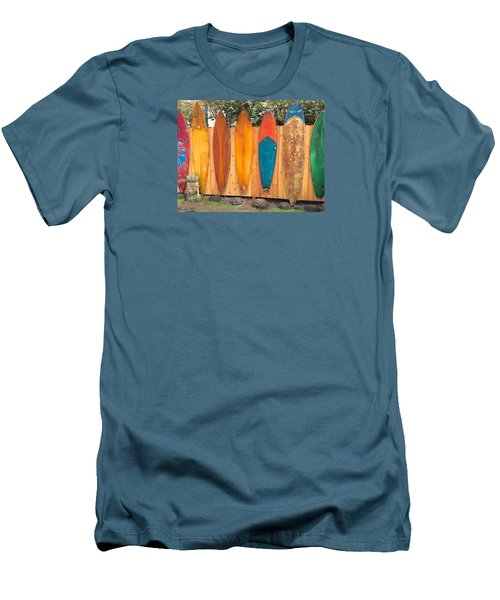 Surfboard Rainbow Men's T-Shirt (Slim Fit) by Brenda Pressnall