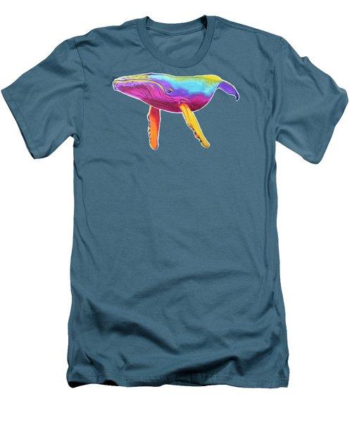 Rainbow Whale Men's T-Shirt (Athletic Fit)