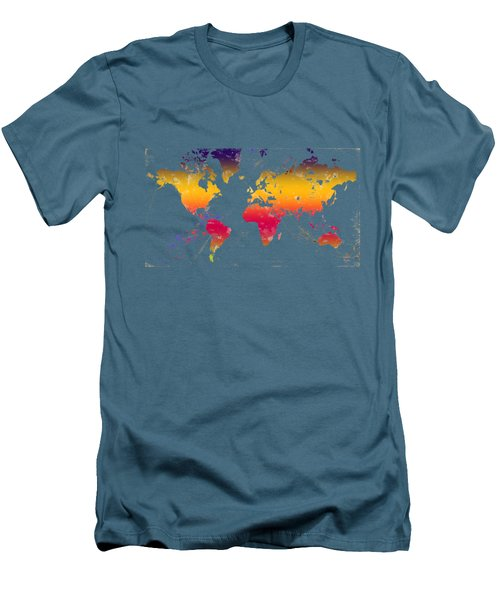 Rainbow World Tee Men's T-Shirt (Slim Fit) by Paulette B Wright