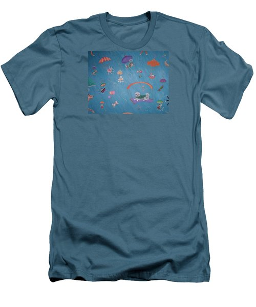 Raining Cats And Dogs Men's T-Shirt (Athletic Fit)