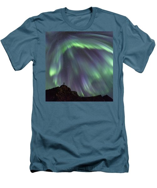 Raining Light Men's T-Shirt (Slim Fit) by Alex Conu