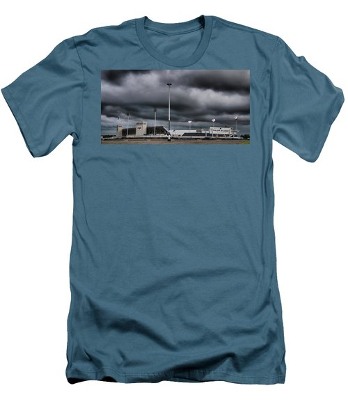 Ralph Wilson Stadium 5803 Men's T-Shirt (Slim Fit) by Guy Whiteley