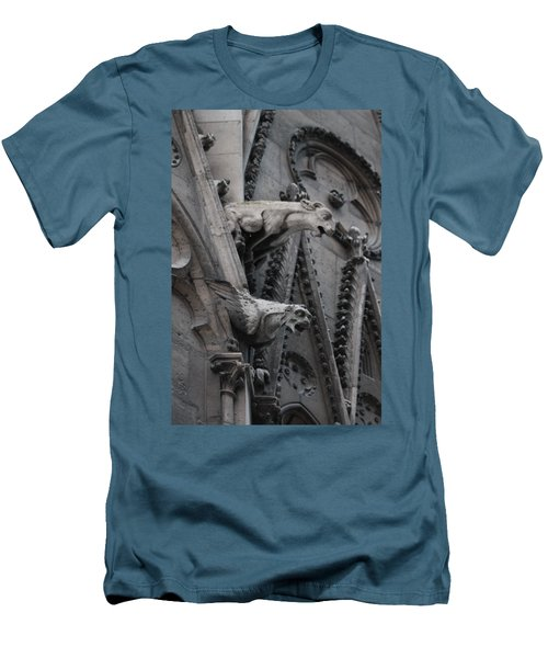Ram And Eagle Griffon Notre Dame Men's T-Shirt (Slim Fit) by Christopher Kirby
