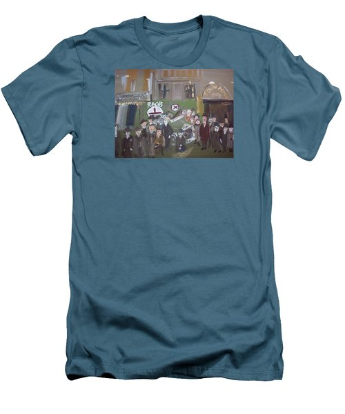 Men's T-Shirt (Slim Fit) featuring the painting Raob Ambulance by Judith Desrosiers