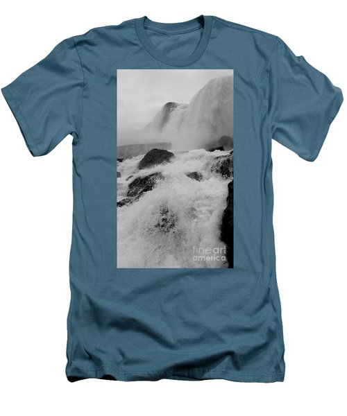 Men's T-Shirt (Slim Fit) featuring the photograph Rapid Stream by Raymond Earley