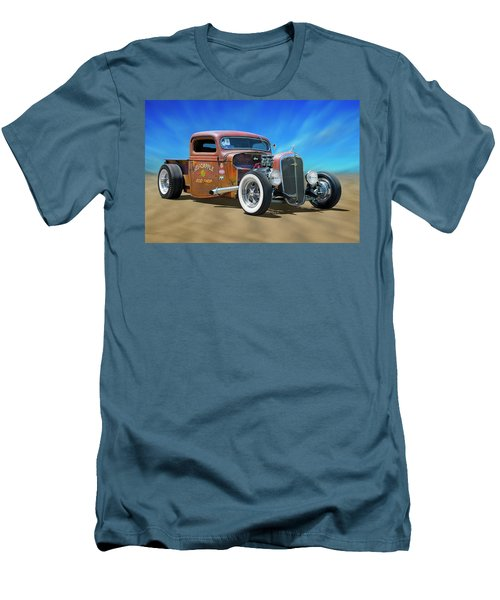 Men's T-Shirt (Slim Fit) featuring the photograph Rat Truck On The Beach by Mike McGlothlen