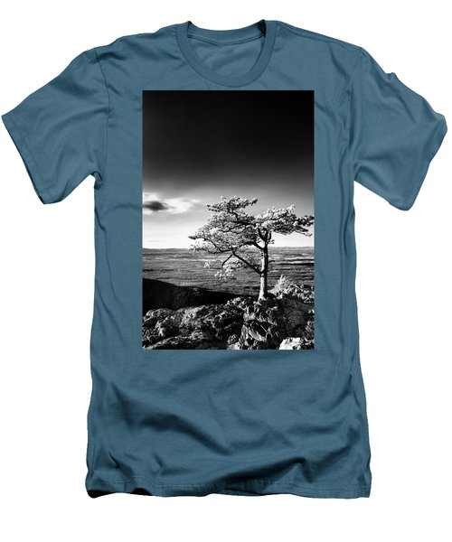 Men's T-Shirt (Athletic Fit) featuring the photograph Ravens Roost Ir Tree by Kevin Blackburn