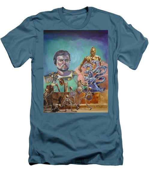 Ray Harryhausen Tribute Jason And The Argonauts Men's T-Shirt (Athletic Fit)