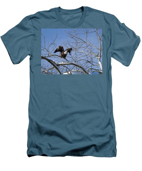 Men's T-Shirt (Slim Fit) featuring the photograph Ready by Jim  Hatch