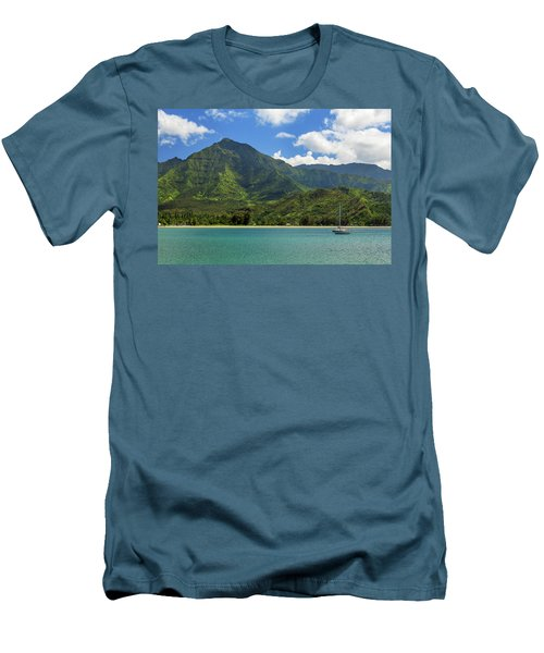 Ready To Sail In Hanalei Bay Men's T-Shirt (Slim Fit) by James Eddy
