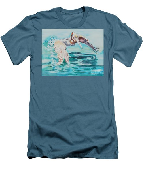 Ready To Take Off Men's T-Shirt (Slim Fit) by Mary Haley-Rocks