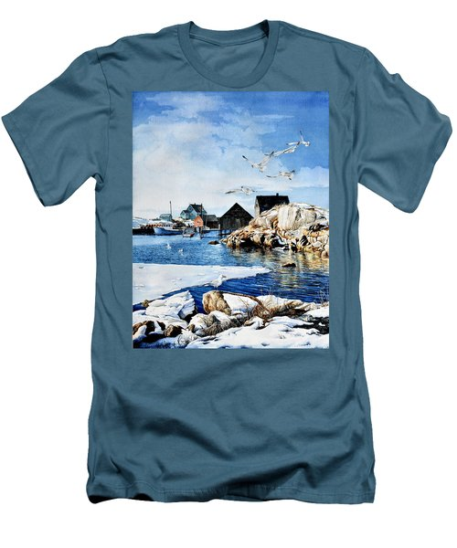 Men's T-Shirt (Athletic Fit) featuring the painting Reason To Believe by Hanne Lore Koehler