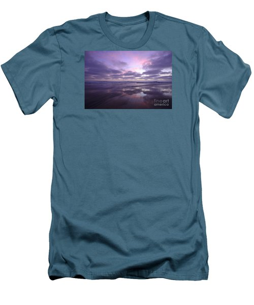 Men's T-Shirt (Athletic Fit) featuring the photograph Cardiff By The Sea Reflections by John F Tsumas