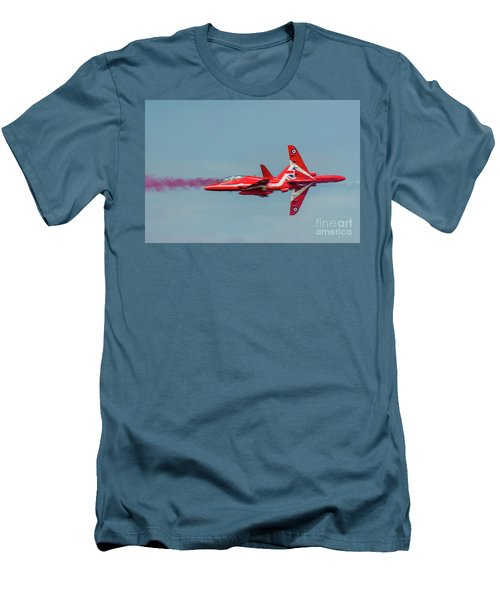 Men's T-Shirt (Athletic Fit) featuring the photograph Red Arrows Crossover by Gary Eason
