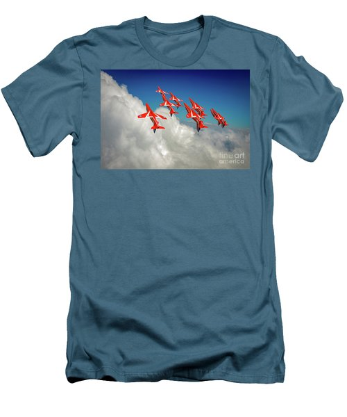 Men's T-Shirt (Athletic Fit) featuring the photograph Red Arrows Sky High by Gary Eason