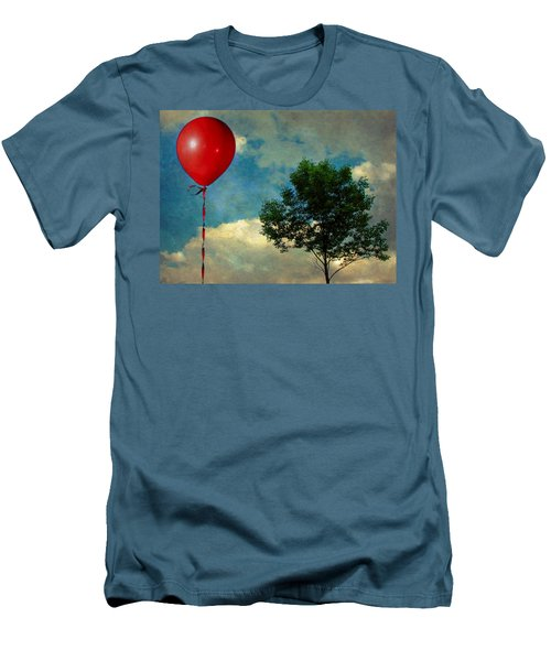 Red Balloon Men's T-Shirt (Athletic Fit)