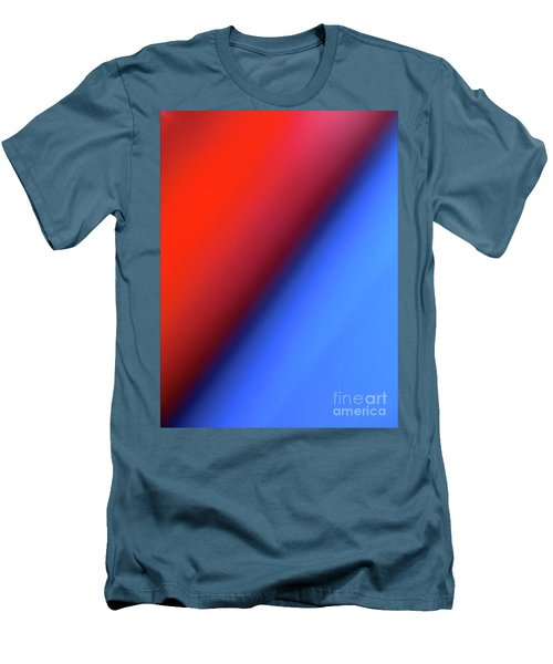 Men's T-Shirt (Slim Fit) featuring the photograph Red Blue by CML Brown