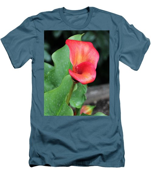 Men's T-Shirt (Slim Fit) featuring the photograph Red Calla Lily by Katie Wing Vigil