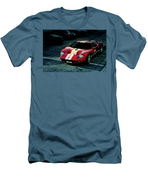 Men's T-Shirt (Slim Fit) featuring the photograph Red Ford Gt by Joel Witmeyer