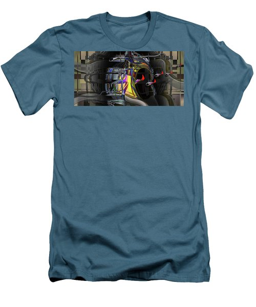 Men's T-Shirt (Slim Fit) featuring the digital art Red Franklies by Steve Sperry