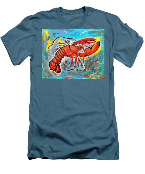Red Lobster Abstract  Men's T-Shirt (Slim Fit) by Scott D Van Osdol