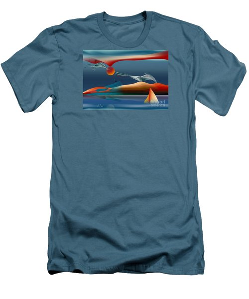Red Moon Sign Men's T-Shirt (Athletic Fit)