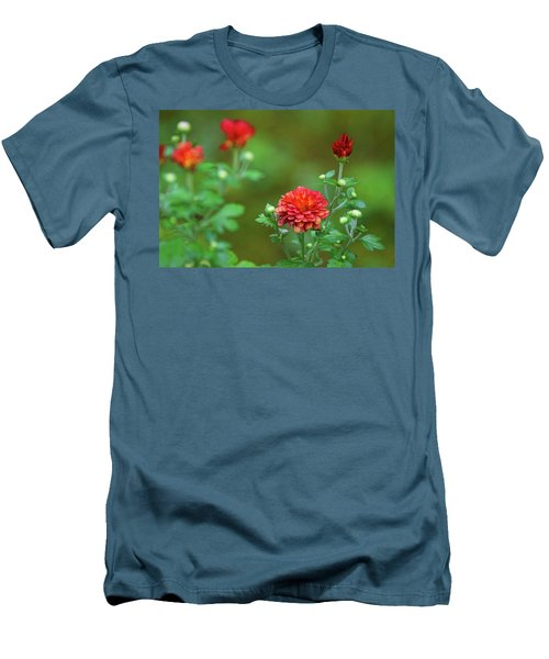 Red Mums Men's T-Shirt (Athletic Fit)